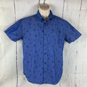 Disney Mickey Mouse Blue Palm Tree SS Shirt